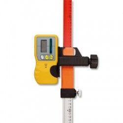 Łata laserowa NivelTop 2,4m i czujnik do niwelatora laserowego z uchwytem na łatę