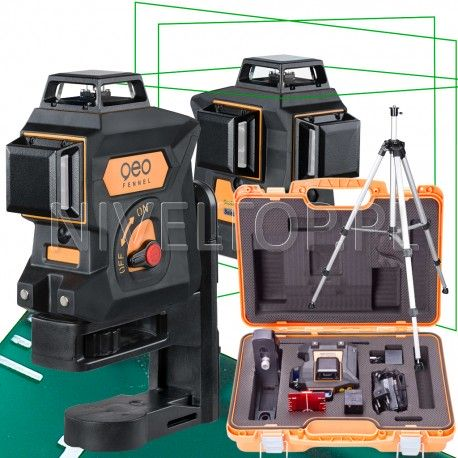 Geo Fennel  Geo6X GREEN SP Li-lon laser krzyżowy płaszczyznowy 3D 360 ZASIĘG 80m + Statyw