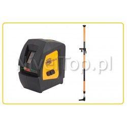 Zestaw laser krzyżowy  Nivel System CL1G z tyczką rozporową 3,2m LP-32 - zielony laserz wysięgnikiem