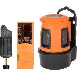 Laser liniowy krzyżowy Geo Fennel FL 40-3 HP z detektorem, zestaw L30-opti