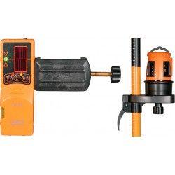 Laser liniowy krzyżowy FL 40-3 HP z kolumną i detektorem zestaw L16-maxi