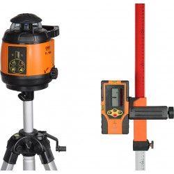 Niwelator laserowy Geo Fennel FL 180A ze statywem na korbę, łatą i czujnikiem zestaw R15-opti