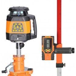 Niwelator laserowy Geo Fennel FL 240HV,statyw na korbę,łata,czujnik,pilot,uchwyt zestaw R08-opti
