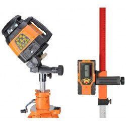 Niwelator laserowy GeoFennel FL 240HV czujnik,pilot,statyw,uchylna głowica,łata,akcesoria zestaw R17-maxi