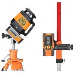 Niwelator laserowy Geo Fennel FL 240HV -statyw,łata,pochyłomierz i akcesoria zestaw R16-maxi