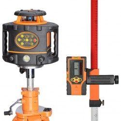 Niwelator laserowy FL 260VA - statyw,łata,czujnik,pilot i akcesoria zestaw R10-opti