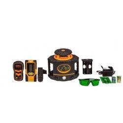 Niwelator laserowy Geo Fennel FLG 265HV-GREEN z czujnikiem, pilotem i akcesoriami