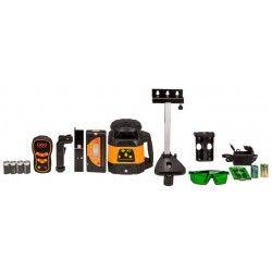 Niwelator laserowy Geo Fennel FLG 245HV-GREEN MM-TRACK - czujnik,pilot, uchwyt i akcesoriaING