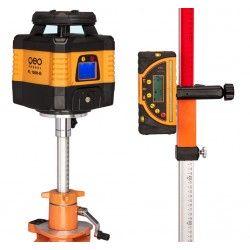 Niwelator laserowy Geo Fennel FL 150H-G MM statyw,łata,czujnik,pilot i akcesoria zestaw R32-maxi