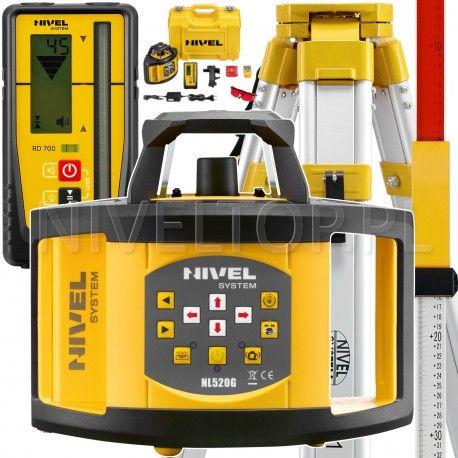 NIVEL System NL520 Digital niwelator laserowy  statyw i łata laserowa w zestawie
