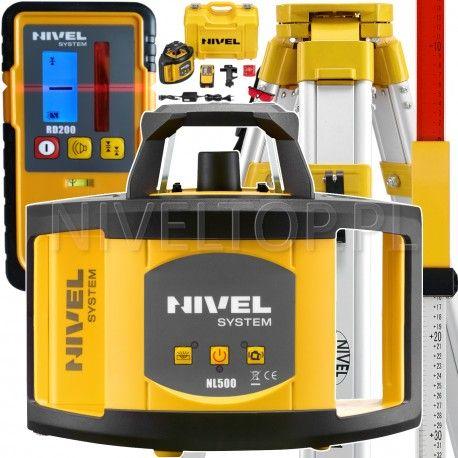 NIVEL System NL500 niwelator laserowy statyw i łata laserowa w zestawie