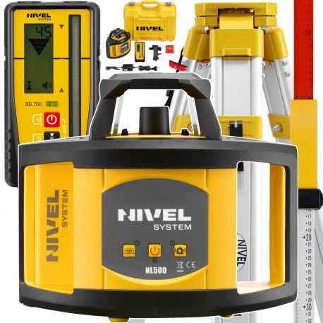 NIVEL System NL500 DIGITAL niwelator laserowy statyw i łata laserowa w zestawie