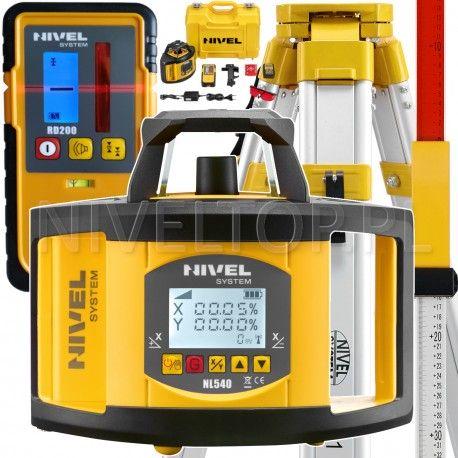 NIVEL System NL540 niwelator laserowy z czujnikiem RD200 statyw i łata- NIVELTOP