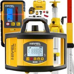 NIVEL System NL540 niwelator laserowy z czujnikiem RD200 statyw korbowy i łata- NIVELTOP