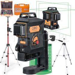 Geo Fennel  Geo6X GREEN SP Li-lon laser krzyżowy płaszczyznowy 3D 360 ZASIĘG 80m + Tyczka+Statyw