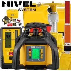Niwelator laserowy NIVEL SYSTEM NL610 DIGITAL w zestawie statyw korbowy SJJ32 i łata laserowa LS24