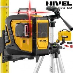 Laser krzyżowy Nivel System CL2D Tyczka rozporowa LP33 czujnik Statyw SJJM1EX - 360 stopni płaszczyznowy