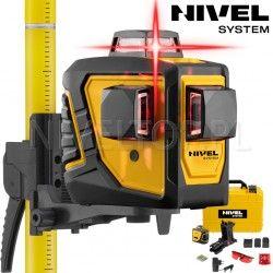 Zestaw laser krzyżowy Nivel System CL3D -360 stopni z tyczką rozporową LP-33