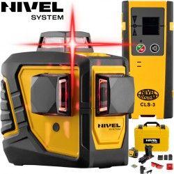 Zestaw laser krzyżowy Nivel System CL3D -360 stopni z tyczką rozporową LP-33 i czujnikiem CLS3