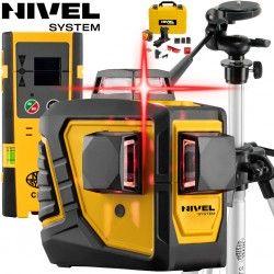 Zestaw laser krzyżowy Nivel System CL3D -360 stopni ze statywem kolumnowym SJJ-M1 EX i czujnikiem CLS3