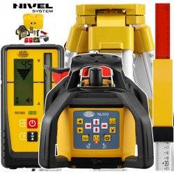 Niwelator laserowy Nivel System NL600 Digital ze statywem SJJ1 i łatą laserową LS-24