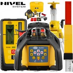 Niwelator laserowy Nivel System NL600 Digital ze statywem SJJ32 i łatą laserową LS-24