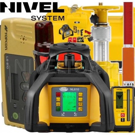 Nivel System NL610 z Topcon LS-B10 - System 1D niwelator laserowy w zestawie ze sterowaniem maszyn