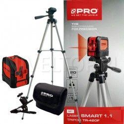 Zestaw laser krzyżowy PRO SMART 1.1 + Statyw TR-420F