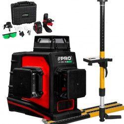 PRO LK-360.3DG Zielony laser płaszczyznowy  + Tyczka LT-334S-2G