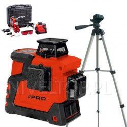 PRO LK-360.3D Czerwony laser płaszczyznowy + Statyw TR-420F