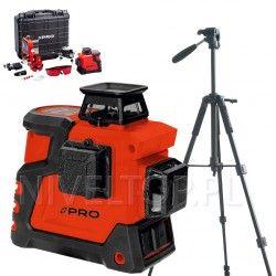 PRO LK-360.3D Czerwony laser płaszczyznowy + Statyw TR-650F