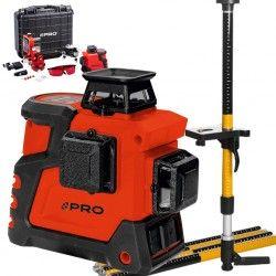 PRO LK-360.3D Czerwony laser płaszczyznowy  + Tyczka LT-334S-2G