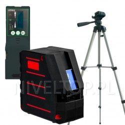 PRO LK-180G laser krzyżowy (zielona wiązka) + Statyw PRO TR-420F + Czujnik DWL-02G