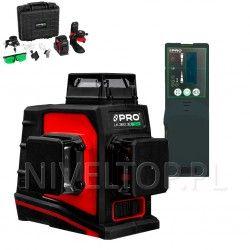 PRO LK-360.3DG Zielony laser płaszczyznowy  + Czujnik PRO DWL-02G