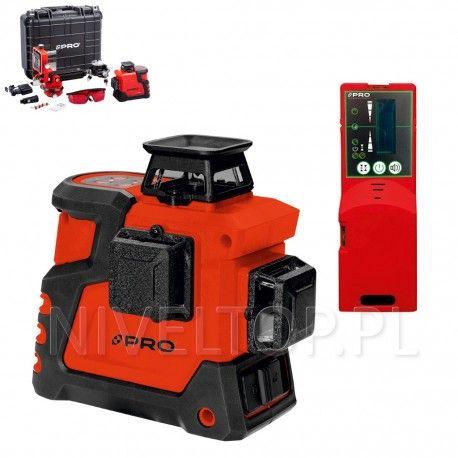 PRO LK-360.3D Czerwony laser płaszczyznowy  + Czujnik PRO DWL-02