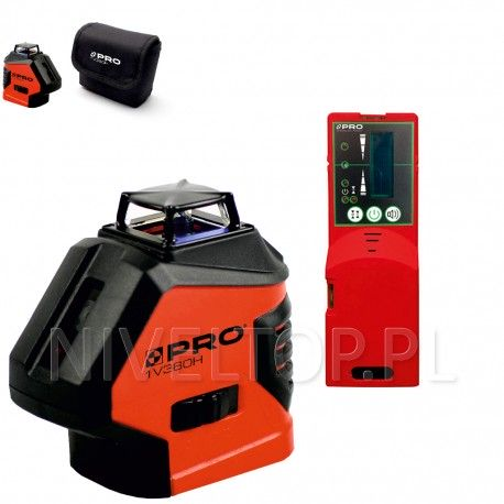 PRO LK-1V360H laser krzyżowy (czerwona wiązka) + Czujnik PRO DWL-02