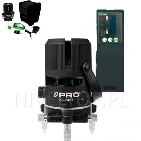 PRO X-LINER 4.1G laser krzyżowy (ZIELONY) + Czujnik PRO DWL-02G