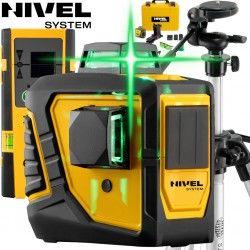 Laser krzyżowy Nivel System CL2DG +Statyw SJJM1EX + Czujnik Nivel System CLS-3 - 2x 360 stopni płaszczyznowy