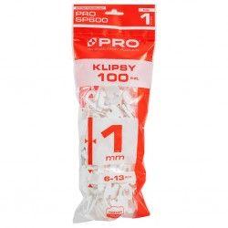 Klipsy PRO-600 1mm 100 szt.