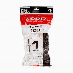 Klipsy PRO-800 1mm 100 szt.