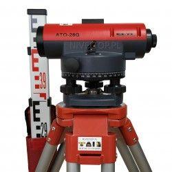 Niwelator optyczny SETL ATO-28G + Statyw aluminiowy + Łata niwelacyjna 5m :: Zestaw niwelacyjny